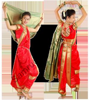 how to wear dance practice saree